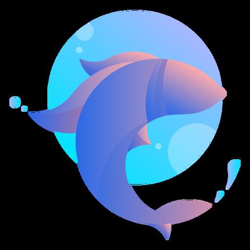 Logotipo de salto de pez Transparent PNG