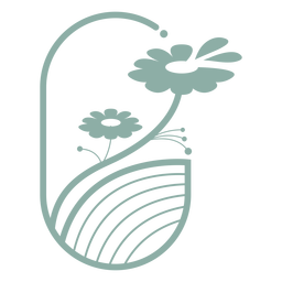 Floral aesthetic logo