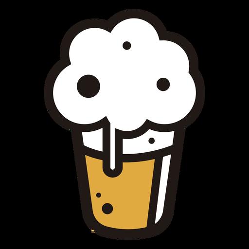 Foaming beer logo