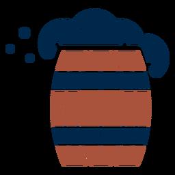 Foaming wooden barrel logo