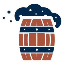 Logotipo de barril de madera espumoso