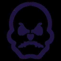 Logotipo de calavera furiosa