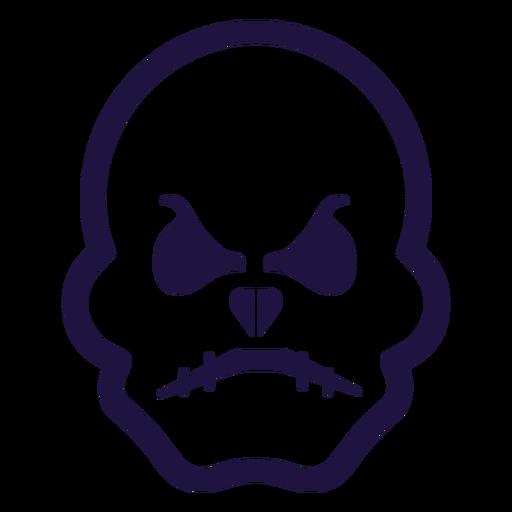 Furious skull logo Transparent PNG