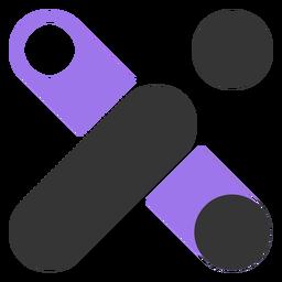 Geometrisches schwarz-violettes Logo