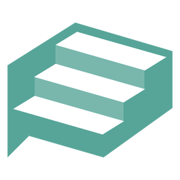 Geometric stairs design logo