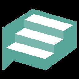 Logotipo do projeto geométrico de escadas