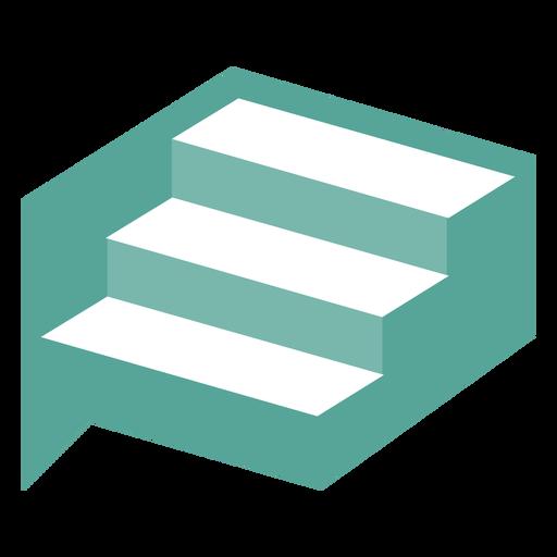 Logotipo de diseño de escaleras geométricas
