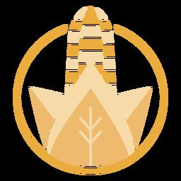 Logotipo de maíz dorado