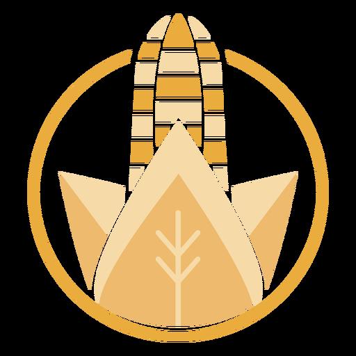 Golden corn logo