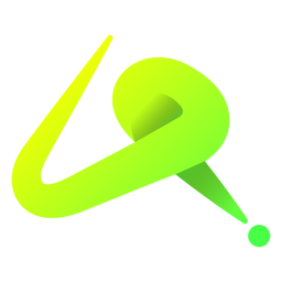 Green abstract lines logo