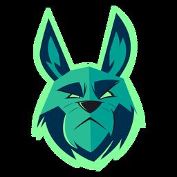 Logotipo de conejo verde