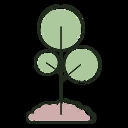 Árbol creciente en logo de tierra
