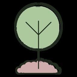 Logotipo de árbol en crecimiento