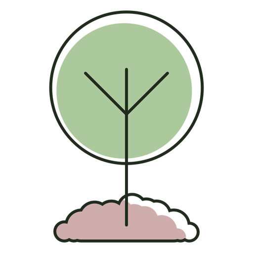 Growing tree logo