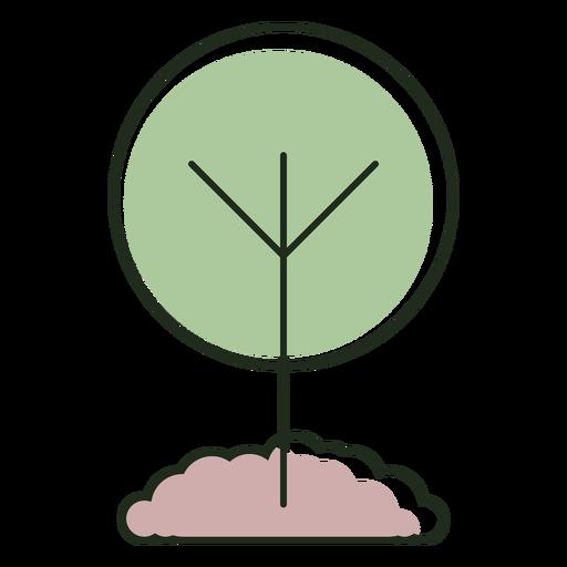 Logotipo de ?rbol en crecimiento