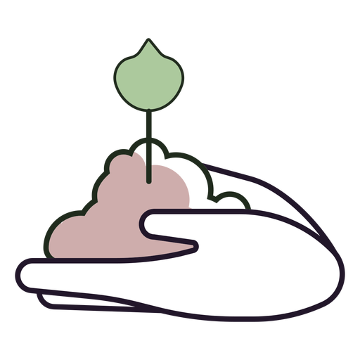 Hands holding sprout logo
