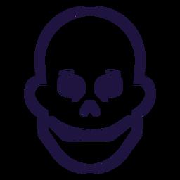 Happy skull stroke logo