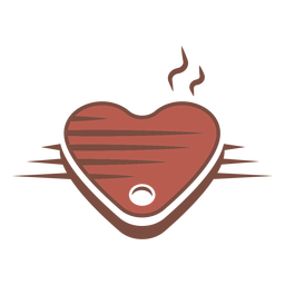 Heart shaped steak logo