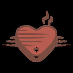 Logotipo do bife em forma de coração