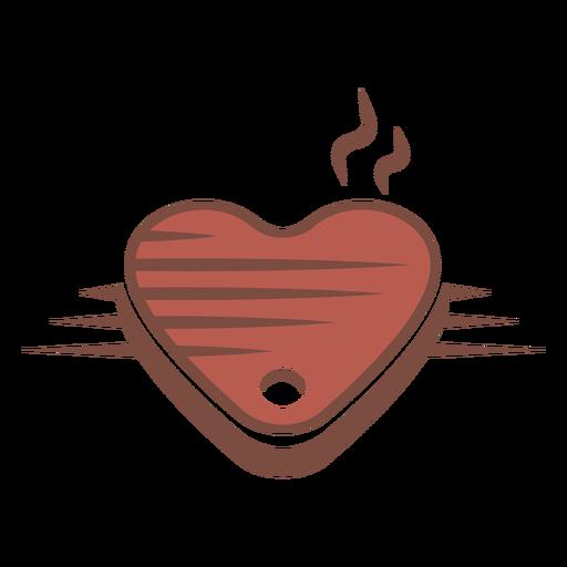 Logotipo de bistec en forma de corazón Transparent PNG