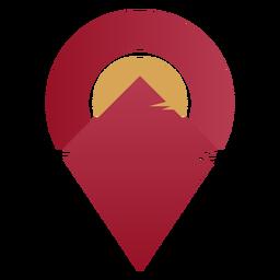 Logotipo geométrico da paisagem Horizon