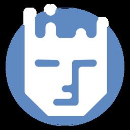 Logotipo de rostro humano serio