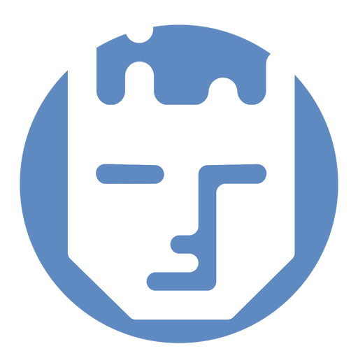 Human serious face logo