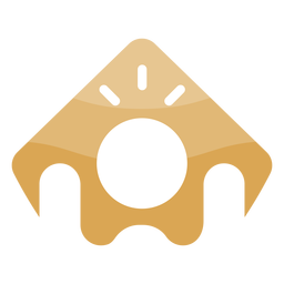 Icon person arms up logo