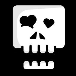 In der Liebe Schädel Illustration Logo