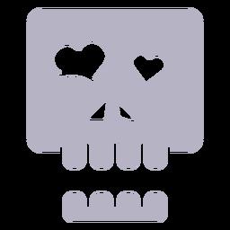 In der Liebe Schädel Silhouette Logo