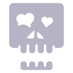In love skull silhouette logo