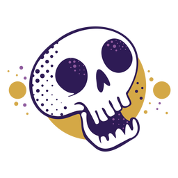 Laughing skull cartoon logo