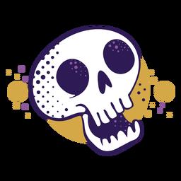 Logotipo de dibujos animados de calavera riendo
