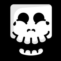 Laughing skull illustration logo