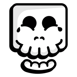 Logotipo de ilustración de calavera riendo