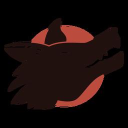 Logotipo de lobo riendo