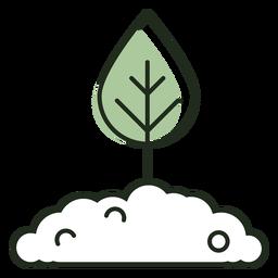 Leaf growing logo