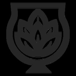 Flor de loto en logo de florero
