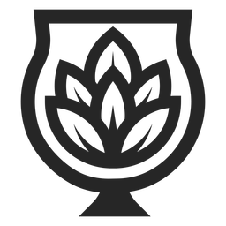Lotus flower in vase logo