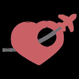 Amor por el logo de viajes