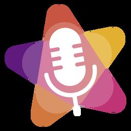 Microfone com logotipo de estrela