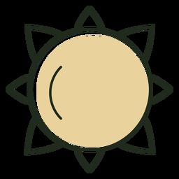 Icono de sol minimalista