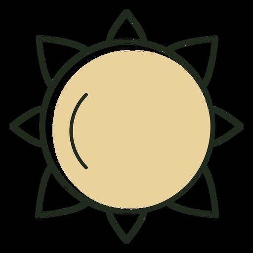 Minimalistic sun icon