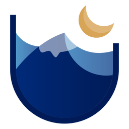 Mountain at night logo