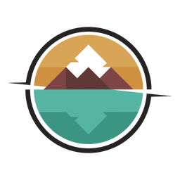 Mountain by the lake logo