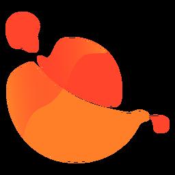 Logotipo abstrato laranja