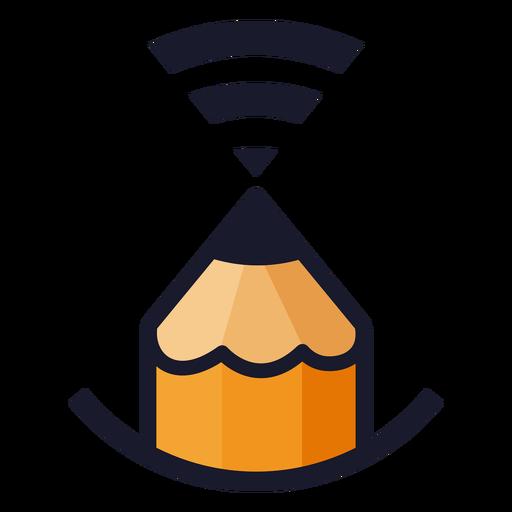 Bleistift mit WLAN-Signal-Logo