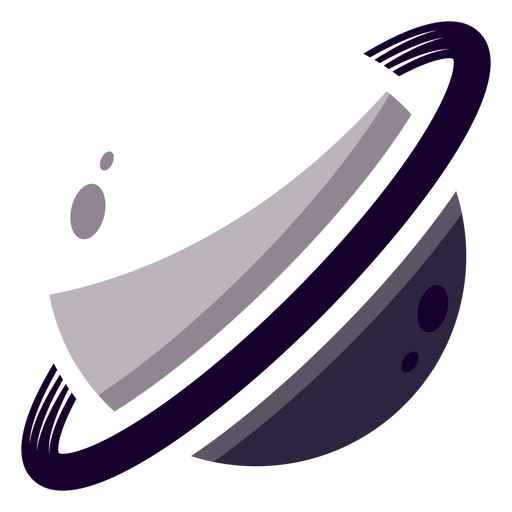 Logotipo da Planet Saturn Transparent PNG