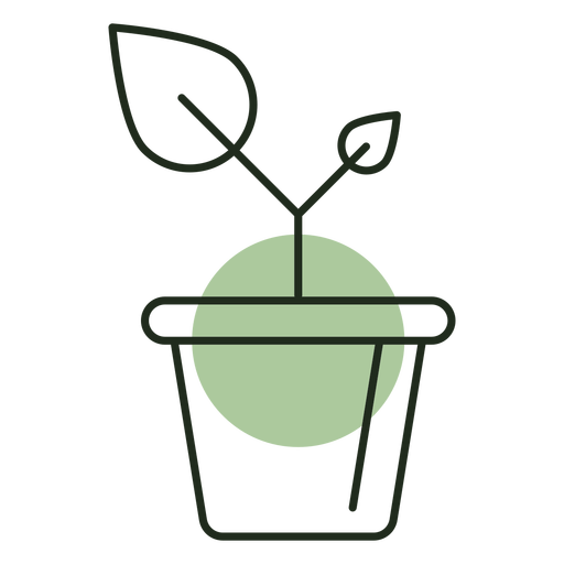 Plant growing in pot logo