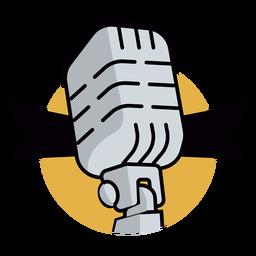 Logotipo do microfone de rádio